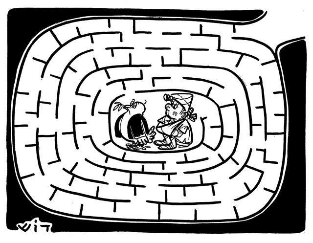 קריקטורה_מבוך